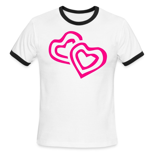 Heart to Heart - Men's Ringer T-Shirt