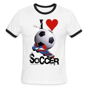 love soccer - Men's Ringer T-Shirt