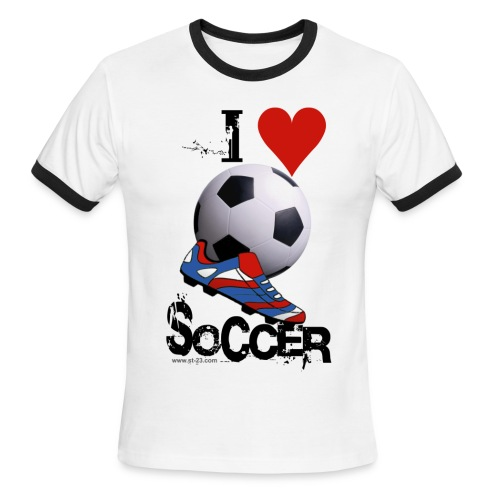 love soccer - Men's Ringer T-Shirt