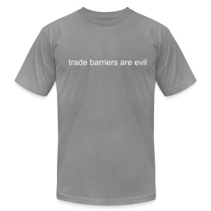 Trade Barriers are Evil - Men's Fine Jersey T-Shirt