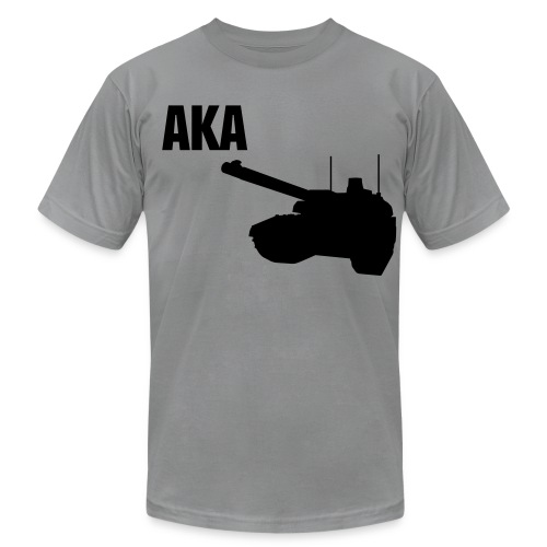 AKA feels the effects of the war to. - Men's Fine Jersey T-Shirt