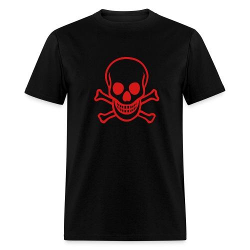 BCR Black Tee w/Skull - Men's T-Shirt