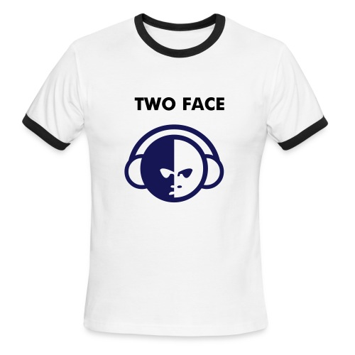 Two face product 1(male) - Men's Ringer T-Shirt