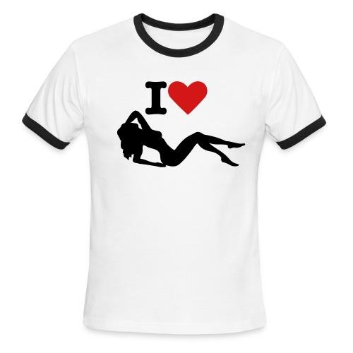 I heart girls - Men's Ringer T-Shirt