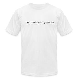 (this shirt intentinally left blank) - Men's Fine Jersey T-Shirt