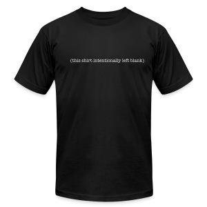 (this shirt intentionally left blank) - Men's Fine Jersey T-Shirt