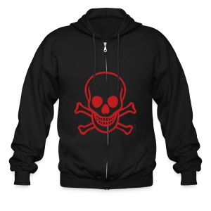skull hoody - Men's Zip Hoodie