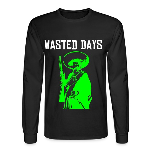 Wasted Days Band  Long Sleeve Tee - Men's Long Sleeve T-Shirt