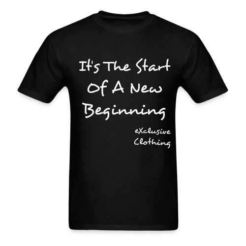 New Beginning (Black) - Men's T-Shirt