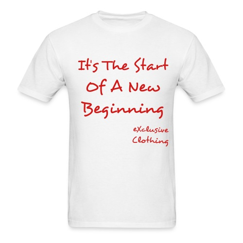 New Beginning (White) - Men's T-Shirt