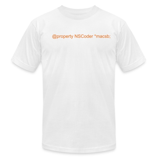 @property NSCoder *macsb; - Men's  Jersey T-Shirt