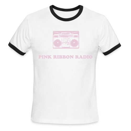 Men's Ringer T-Shirt - All net proceeds from the sale of this tee will go towards the Pink Ribbon Radio fundraising goal of $2000!