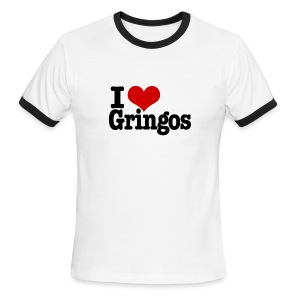 I Heart Gringos - Men's Ringer T-Shirt