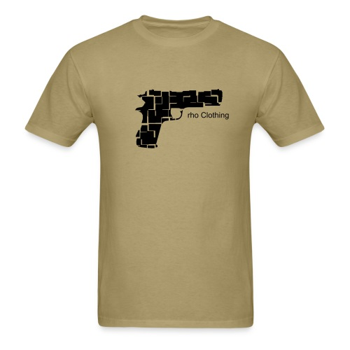 rho Pistol (Khaki) - Men's T-Shirt