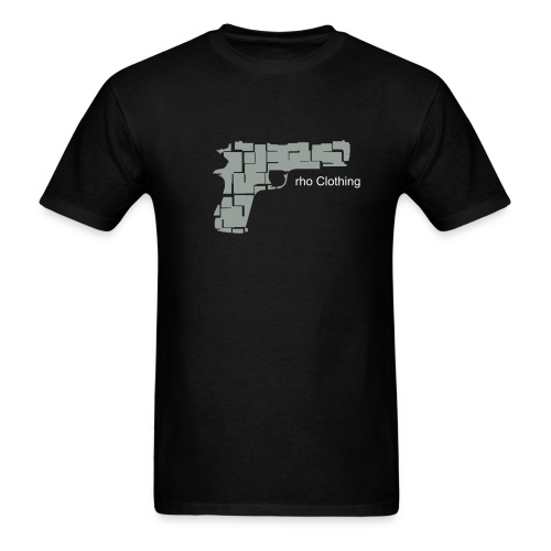 rho Pistol (Black) - Men's T-Shirt