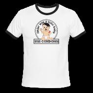 T-Shirts ~ Men's Ringer T-Shirt ~ Use Condoms for dudes