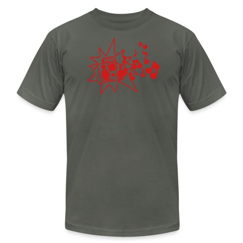 Blasting Boombox - Men's Fine Jersey T-Shirt