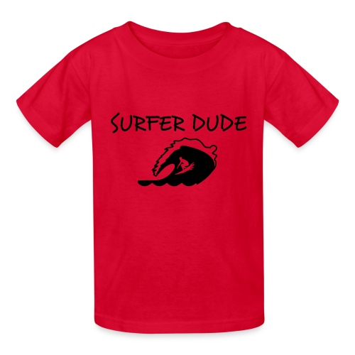 surfer dude in red - Kids' T-Shirt