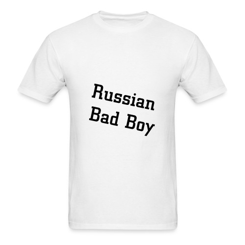 Russian Bad Boy White men's - Men's T-Shirt
