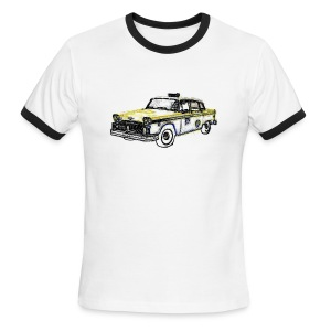 Checker Cab Sketch Ringer - Men's Ringer T-Shirt
