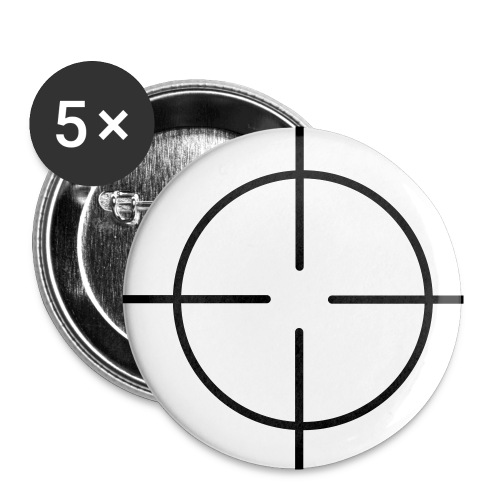 Target Button Black - Small Buttons