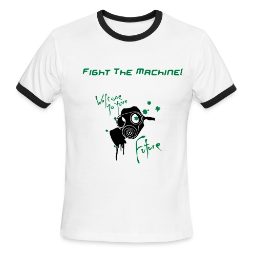 Fight The Machine Tee - Men's Ringer T-Shirt