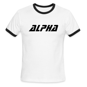 Alpha Retro Shirt (White) - Men's Ringer T-Shirt