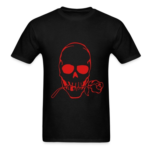 Skull rose-red - Men's T-Shirt
