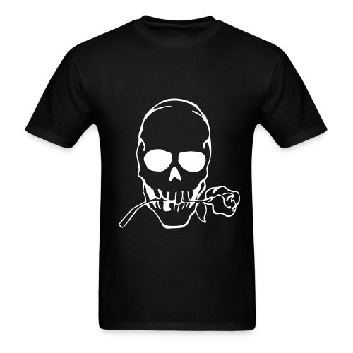 Skull rose Tee-white - Men's T-Shirt