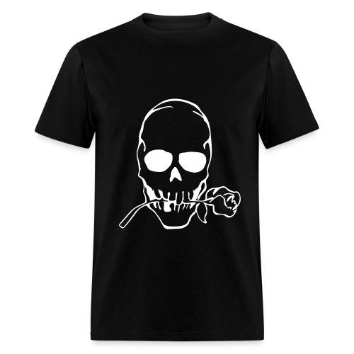 Skull rose Tee-white - Men's T-Shirt
