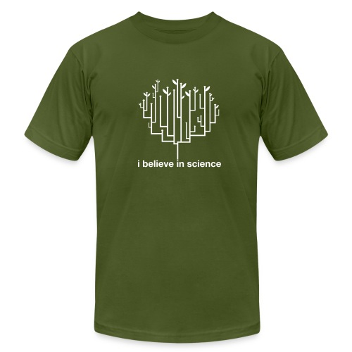 Tree of Life: Olive - Men's T-Shirt by American Apparel