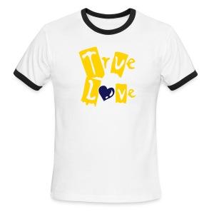 True Love Guitar Ringer Tee - Men's Ringer T-Shirt