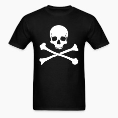 Black Skull and Crossbones Men