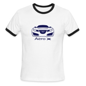 Saab Aero-X (front and rear view) - Men's Ringer T-Shirt