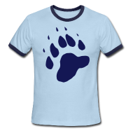 T-Shirts ~ Men's Ringer T-Shirt ~ Bear Paw