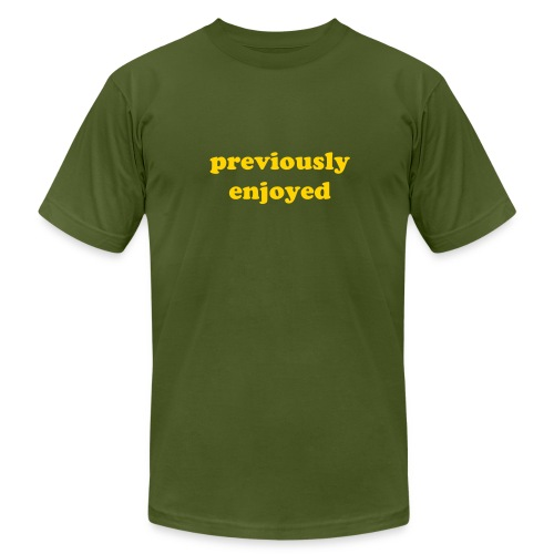 Previously Enjoyed Olive - Men's Fine Jersey T-Shirt