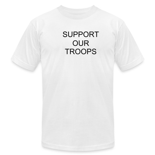 SUPPORT OUR TROOPS - Men's  Jersey T-Shirt