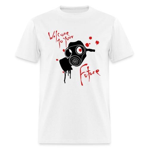 White Gasmask Tee - Men's T-Shirt