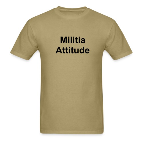 militia attitude - site - Men's T-Shirt