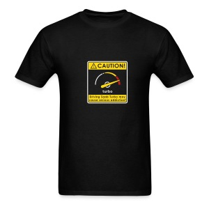 Saab addiction caution - Men's T-Shirt