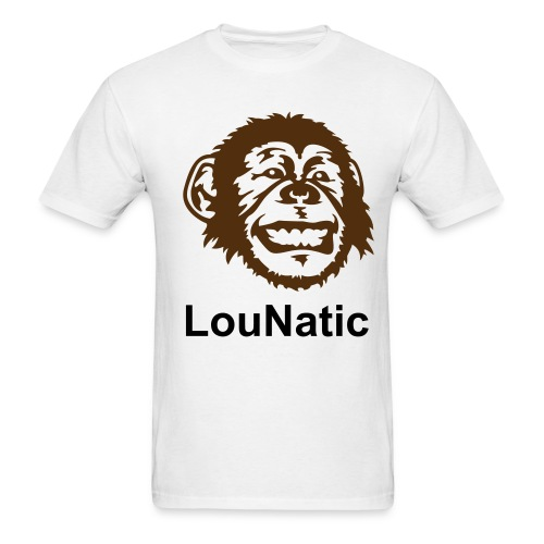 Men's T-Shirt - Tell the idiot behind you at the wrestling show what to do Lou style.