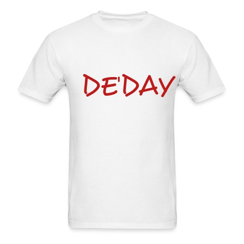 White DE'DAY Tee  - Men's T-Shirt