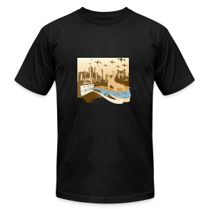 CITY VIEW - Men's Fine Jersey T-Shirt