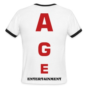 A G E Vertical Tee - Men's Ringer T-Shirt