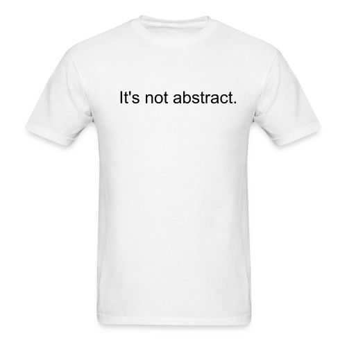 Abstract White Tee - Men's T-Shirt