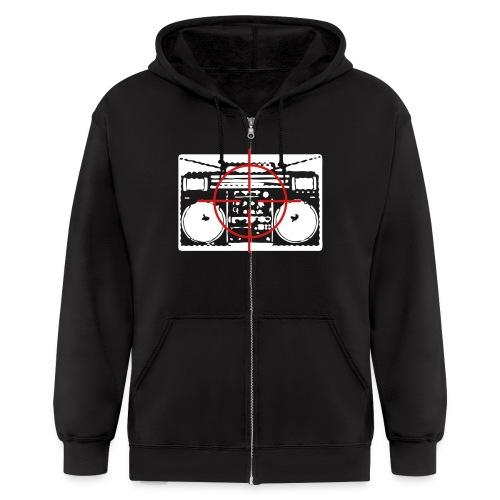 Boombox in Crosshairs zip-up hoodie - Men's Zip Hoodie
