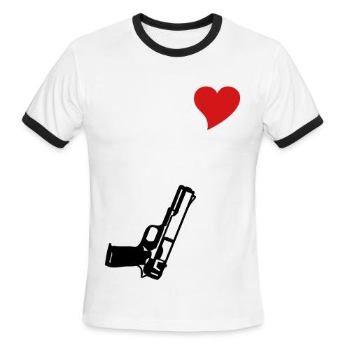 M Band T Heart N' Gun - Men's Ringer T-Shirt