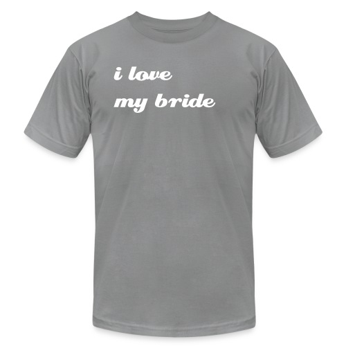 i love my bride - Men's Fine Jersey T-Shirt