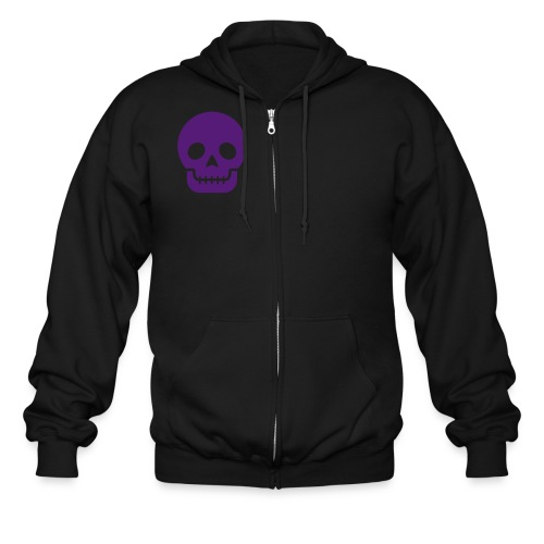 Skull w/logo sweatshirt - Men's Zip Hoodie