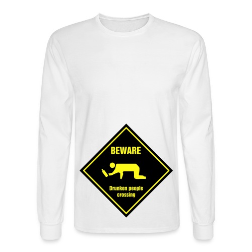 Drunks crossing shirt - Men's Long Sleeve T-Shirt